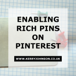 Enabling Rich Pins on Pinterest