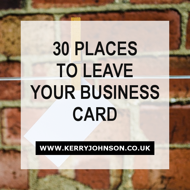 30 Places to Leave Your Business Card