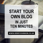 Start Your Own Blog in Just Ten Minutes