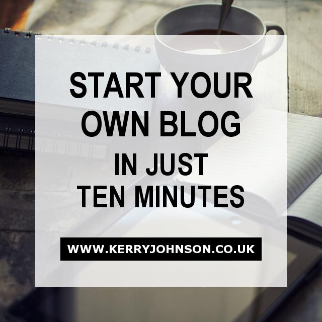 Start Your Own Blog in Ten Minutes