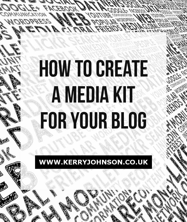 How to Create a Media Kit for Your Blog