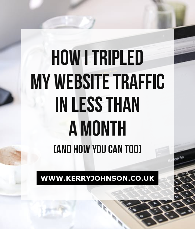 How I Tripled my Website Traffic in Less Than a Month
