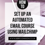 How to Set Up an Automated Email Course Using MailChimp