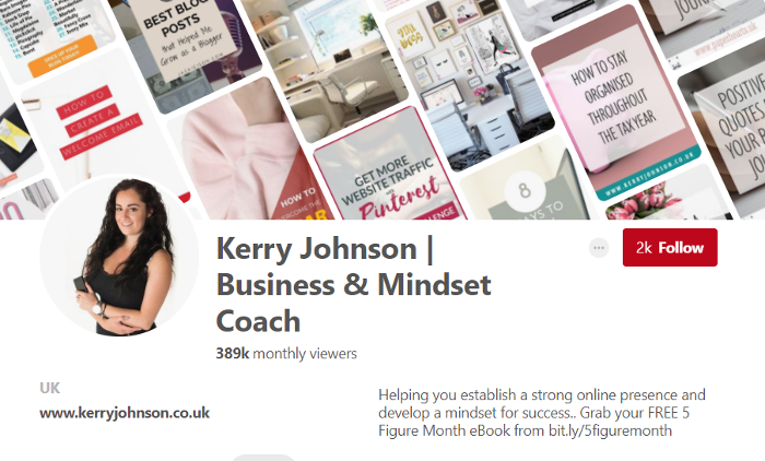 Kerry Johnson | Business & Mindset Coach | Pinterest